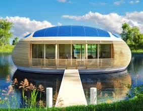 eco homes solar powered floating eco home on the water is nearly 100