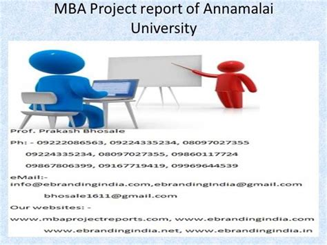 Project Management Ppt For Mba by Mba Project Report Of Annamalai Authorstream