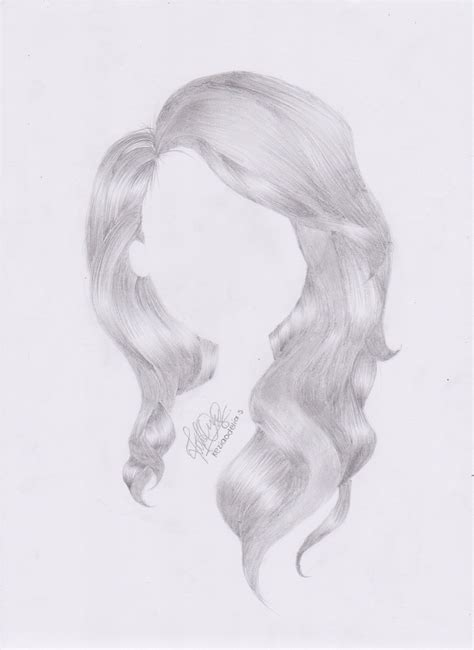 wavy hairstyles drawing wavy hair drawing by keziaodelia on deviantart