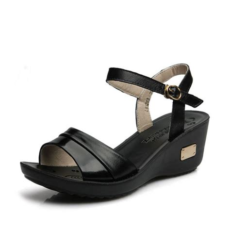 buy summer leather sandals peep toe sandals leather