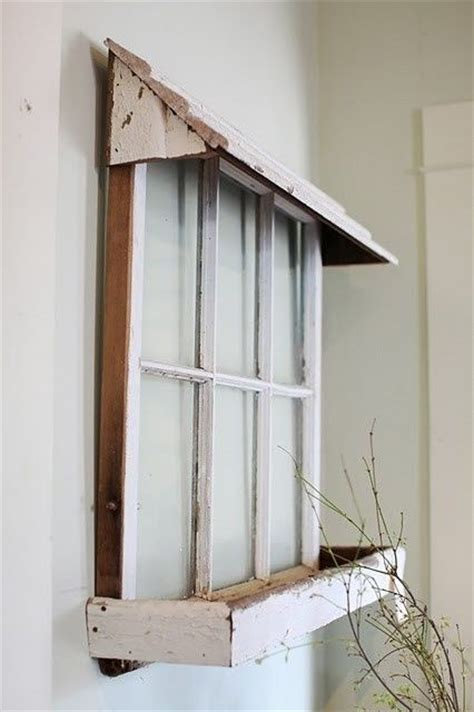 window box shelf maybe an awning above window for the tub display a