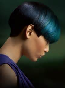 black and blue hair color creative hair color trends 2012