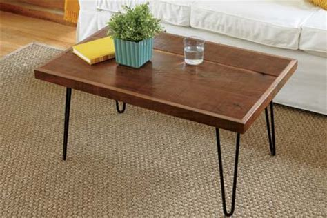 How To Make Coffee Table Legs How To Build A Hairpin Leg Coffee Table This House