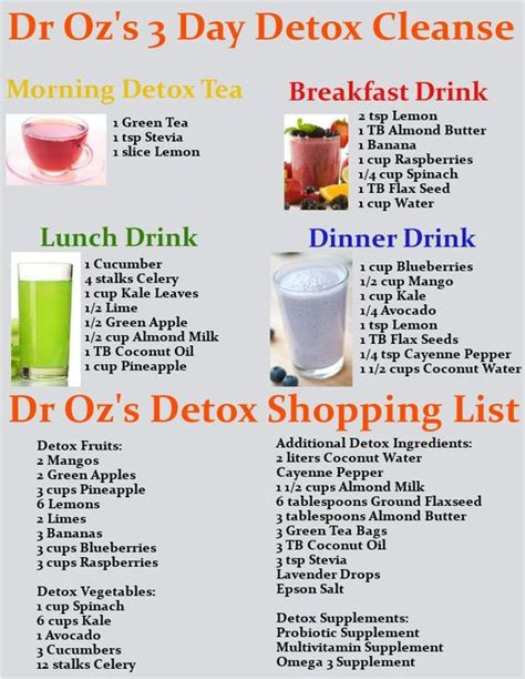 3 Day Vegetarian Detox Diet Plan by Detox Cleanse Drink Discount Codes And Drinks On