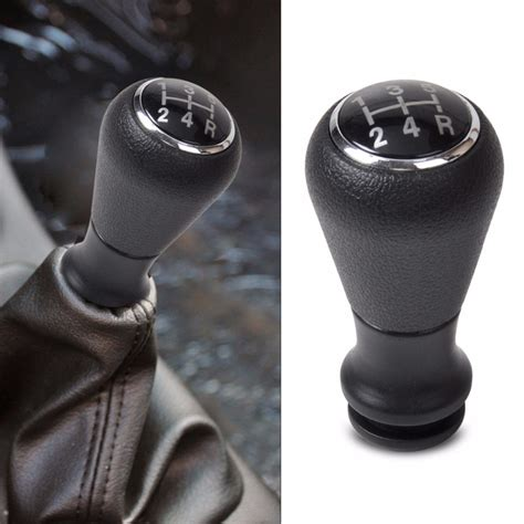 Stick Shift Knob by New Style 5 Speed Black Gear Stick Shift Knob For Peugeot
