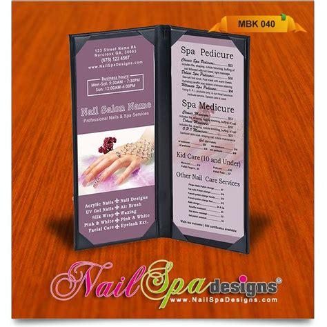 menu book template menu book template for nail salon visit www