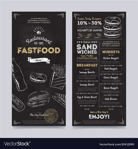 cafe menu design template free restaurant cafe menu template design royalty free vector