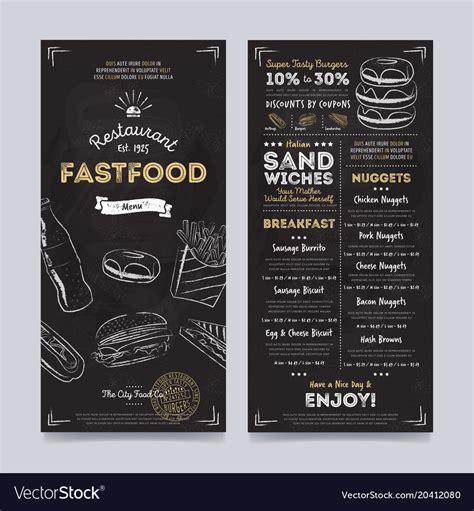 cafe menu template restaurant cafe menu template design royalty free vector