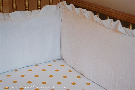 Crib Bumper by Ruffled Crib Bumper A Small Snippet