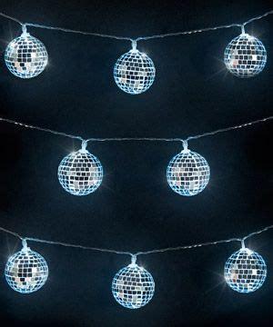 Mirror Ball String Lights Mirror Ball Disco Ball And Discos Light Up Balls On String