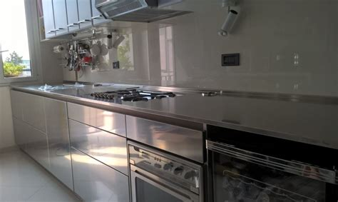 cucine in acciaio inox c114 cucina in acciaio inox l 420cm cucine in acciaio
