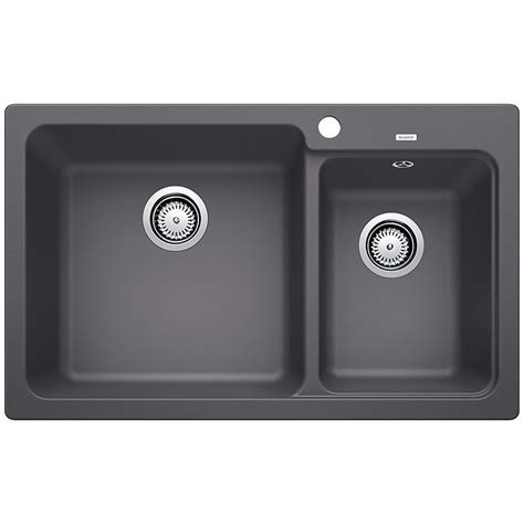 Blanco Naya 8 Kitchen Sink blanco grey naya bowl with overflow inset sink