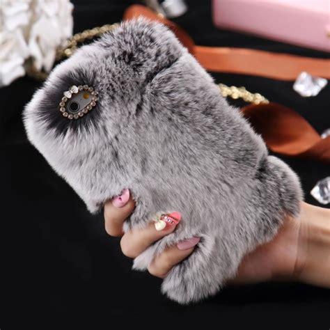 rabbit fur phone cases fur phone