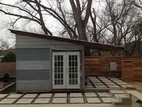 Corrugated Metal Shed by Aquahaus A Mid Century House In Tx