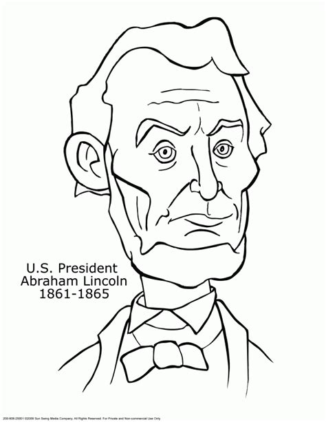 u s president abraham lincoln coloring page 132372