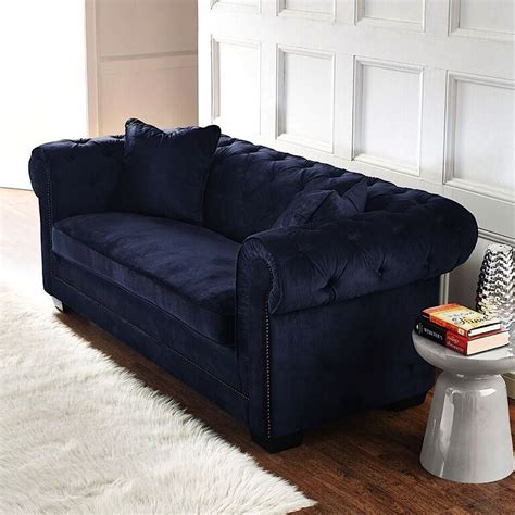 Contemporary Navy Blue Sectional Sofa Norwalk Velvet Sofa Navy Blue Modern Digs Furniture