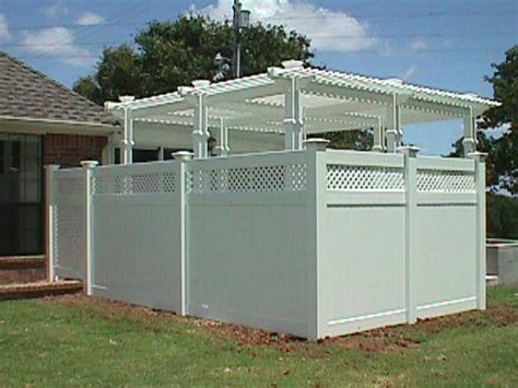 pergola privacy fence pergola with lattice privacy fencing and gate midland