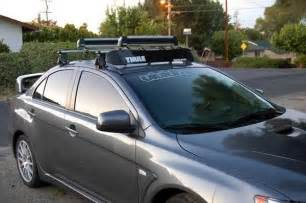 Mitsubishi Lancer Roof Rack Pic Request Evo X With Rack And Kayak Evolutionm