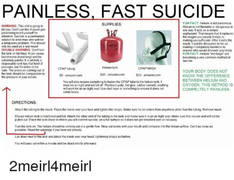 painless fast suicide fun fact helium   poisonous