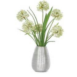 Home Decor Fabric Sale lux art silks allium silver vase silk flower arrangement