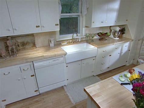 install butcher block countertop install an apron front sink in a butcher block countertop