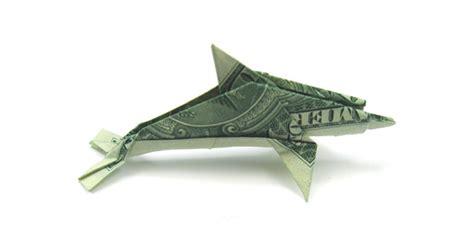 Dollar Origami Shark - dollar origami los cuatro ojos