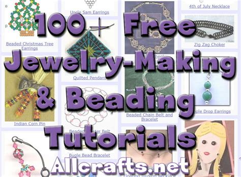 100  Free Jewelry Making and Beading Tutorials ? AllCrafts Free Crafts Update