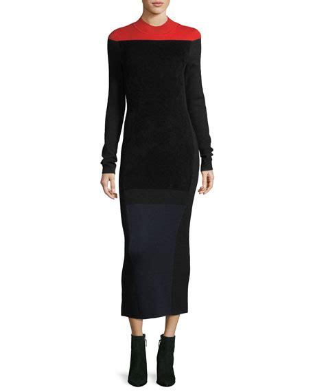 Mock Neck Sleeve Knit Dress diane furstenberg sleeve mock neck wool blend