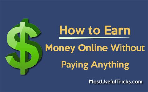 How To Make Money Instantly Online - how to earn money online without paying anything guide