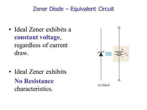 ideal zener diode circuit chapter 3 special purpose diodes ppt