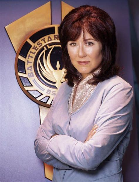 mary mcdonnell hair treatment battlestar galactica s president laura roslin played by