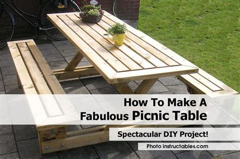 how to make picnic bench how to make a fabulous picnic table