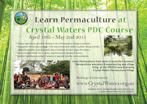 upcoming events crystal lake training show may 2015 7 hours ce permaculture course october 2015 crystal waters