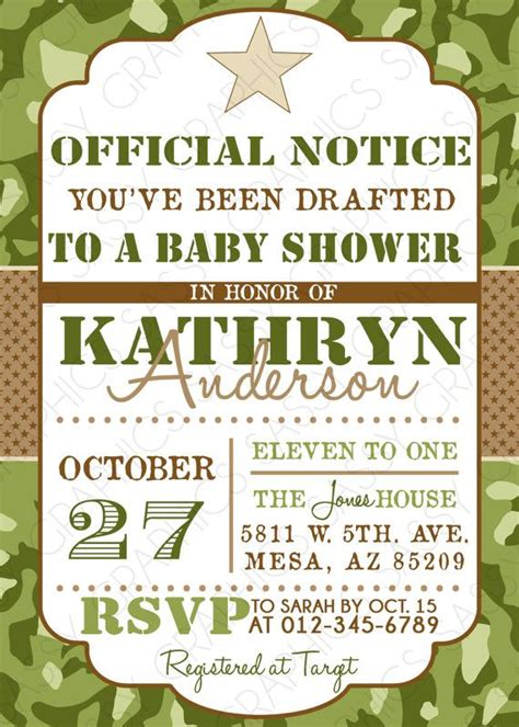 Army Baby Shower Theme by Camo Boy Baby Shower Invite Baby Shower