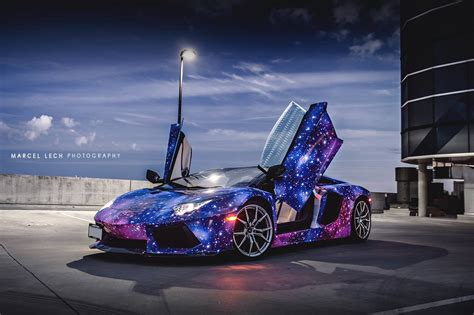 Luxury Cars 2015 2016 Lamborghini Aventador In Galaxy