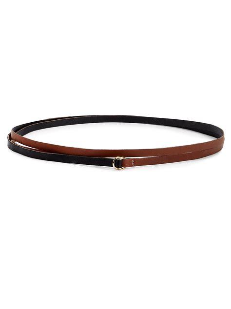 altuzarra leather wrap belt in brown lyst