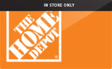Sell Home Depot Gift Card - buy the home depot 174 in store only gift cards raise