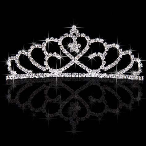 Princess Wedding Crown pageant wedding bridal crown rhinestone princess silver jewelry tiara a ebay