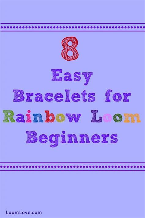 printable bandaloom instructions 8 easy bracelets for rainbow loom beginners