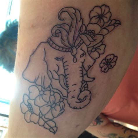 elephant outline tattoo biceps tattoos and designs page 236