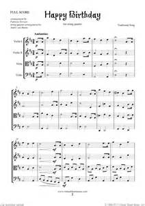 Happy birthday sheet music for string quartet