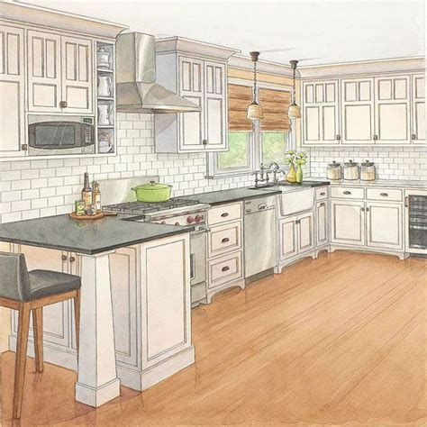 Kitchen Design Island Placement One Kitchen Two Budgets Craftsman Style