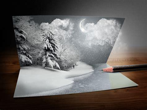 unusual christmas card photoshop tutorial