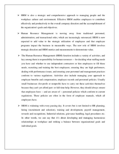 Mba Project Report On Manpower Planning by Summer Internship Project Hr Mba