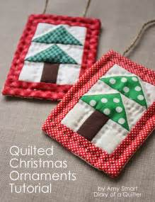 mini christmas tree quilt ornament tutoial diary of a