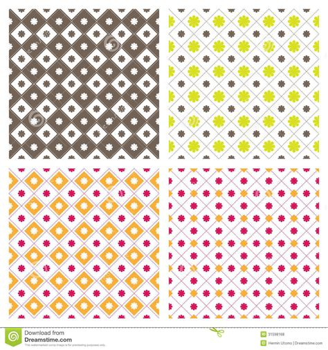 square pattern background vector flower square seamless pattern background stock vector