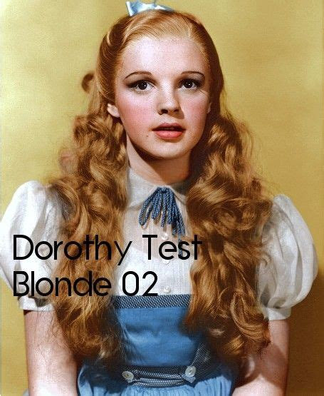 original hair color judy garland s original hair color for dorothy was