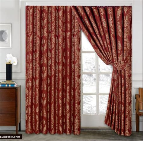gold and burgundy curtains jacquard curtains pencil pleat red blue teal chocolate
