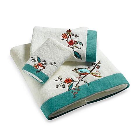 Embroidered Towel Bath Towel simply lenox 174 chirp embroidered bath towel collection