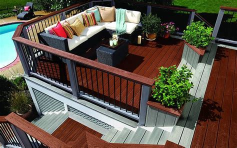 deck möbel layout trex transcend 174 composite deck railing trex deck
